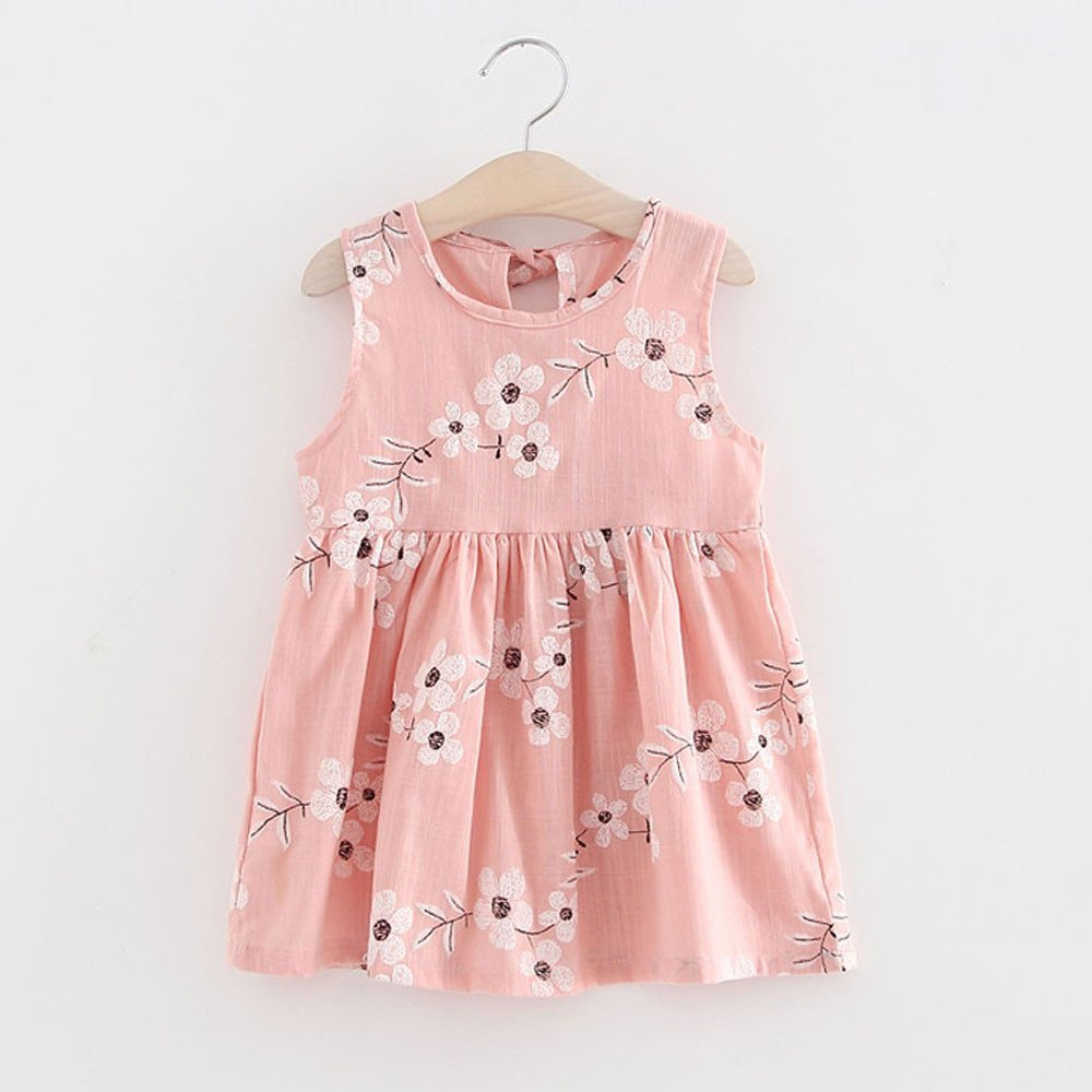 Girls Dress Print Tutu Summer Clothes Baby Kids Girls One Piece Dress