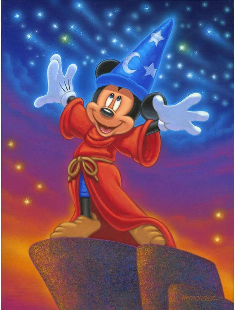 Full Drill 5D Art Craft Cross Stitch Magician Mickey Embroidery Home Decor