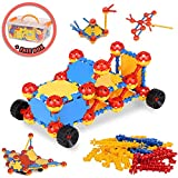 Click Builders By LIVEWELL Kids - Construction Building Toy Set Stimulates STEM Learning - Educational Toys To Engage The Mind - STEM Toys for 3 4 5 6 7 8 9 Year Olds And Up