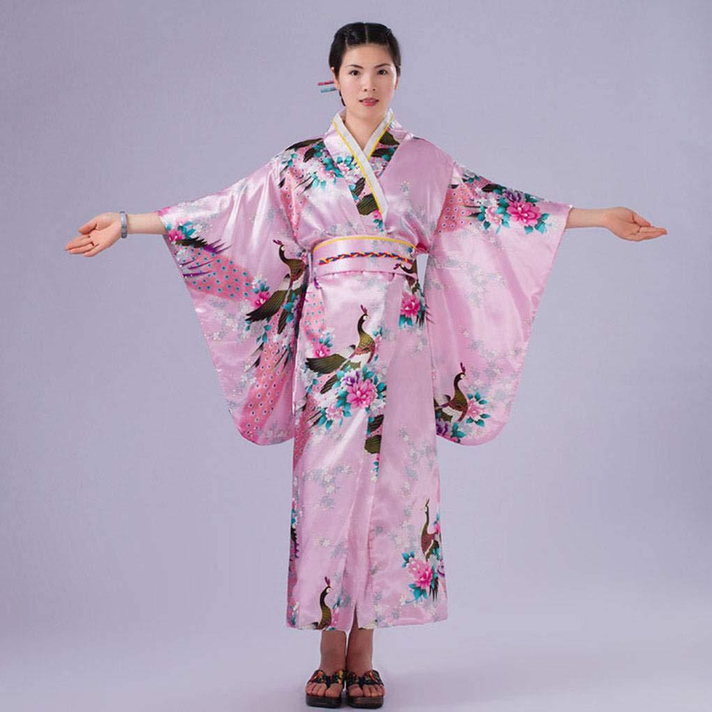 Bodbii Foto Cosplay delle Ragazze delle Donne Giapponesi Raso Lunga Floreale Kimono Yukata