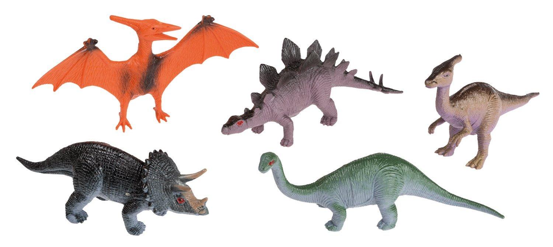 Idena 4325005 - 5 Dinosaurier im Beutel, 10 cm Iden Berlin