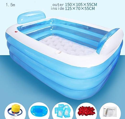 Bañera inflable de gran tamaño espesado Bañera de baño de ...