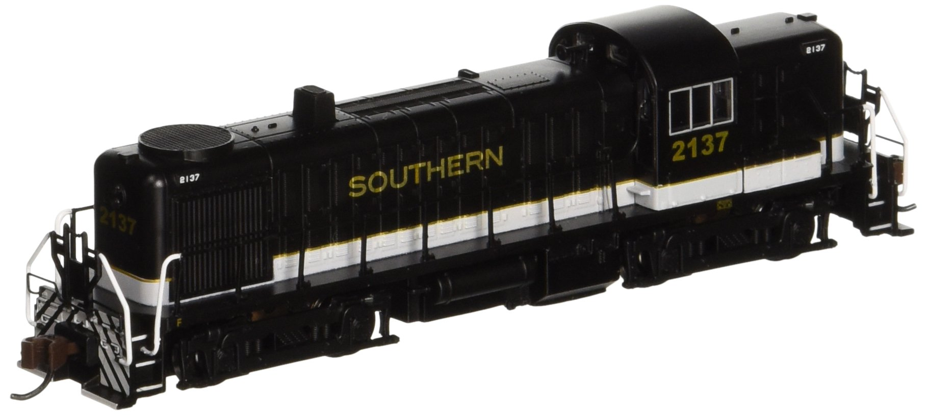 Bachmann Industries Alco RS-3 Locomotive Southern 2137 (Black, Grey and Dulux Gold) N Scale - DCC on Board