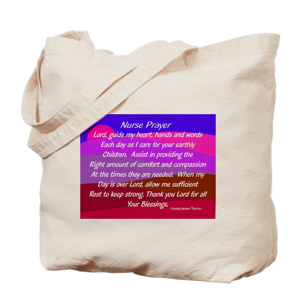 5a72ab6c7150 Amazon.com: CafePress Nurse Prayer Blanket 3 Natural Canvas Tote Bag ...