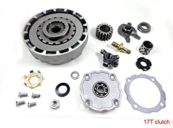 Clutch Assembly 17 Teeth with Accessories For Semi Auto 50cc-125cc Engine ATV A1