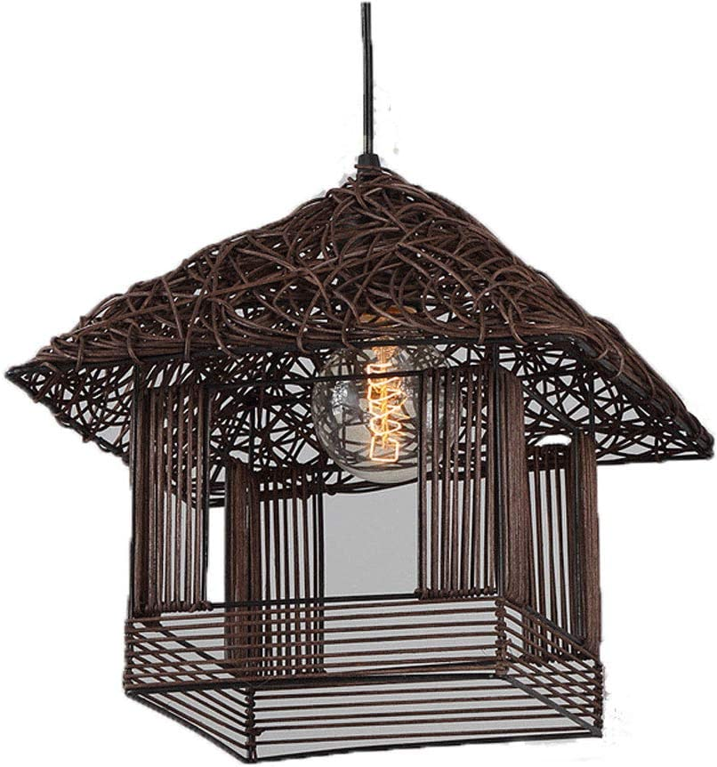 LCTCDD Lámpara de Techo de Madera, lámpara de Techo de Estilo ...