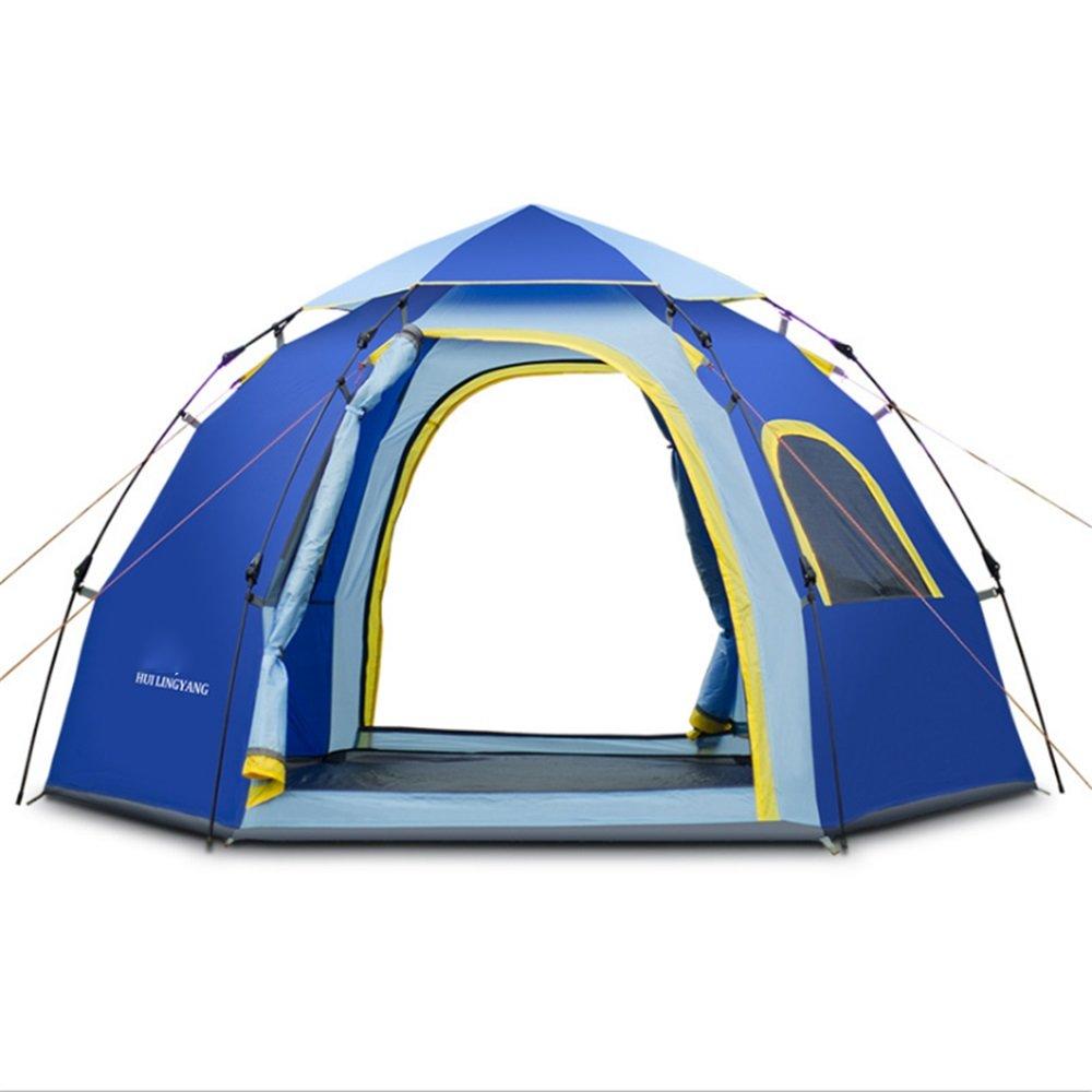 屋外自動テント5-6人々ヘキサゴンレジャーユートキャンプ用品青 B07C1JNRQ4 B07C1JNRQ4, SPORTS ショウジ:84e85f50 --- ijpba.info