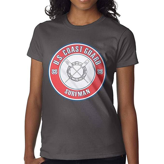 adc0844996c9 US Coast Guard Surfman Badge Women s Round Neck Short Sleeve T-Shirt ...