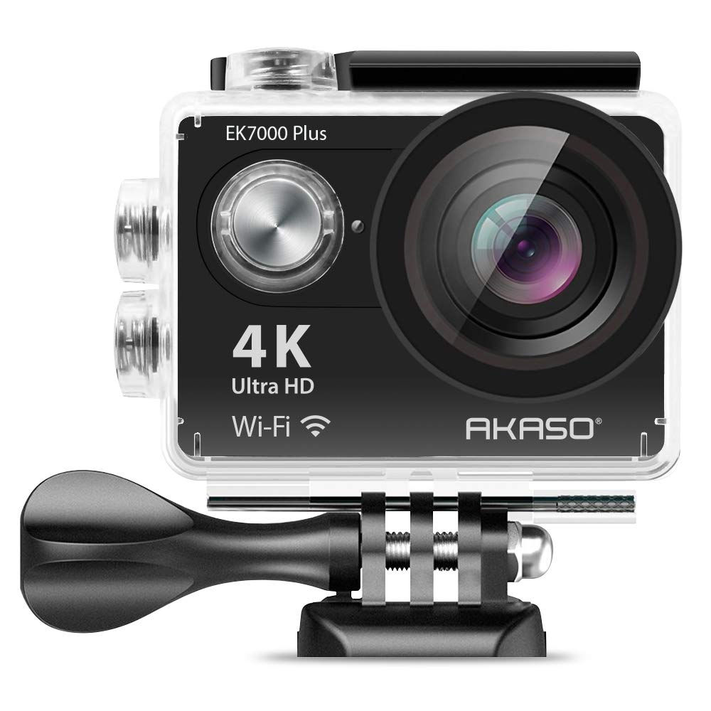 AKASO EK7000 Plus 4K 16MP WIFI Action Camera Adjustable View Angle 30M Waterproof Camera Remote Control Sports Camera with Helmet Accessories Kit and Filters by AKASO
