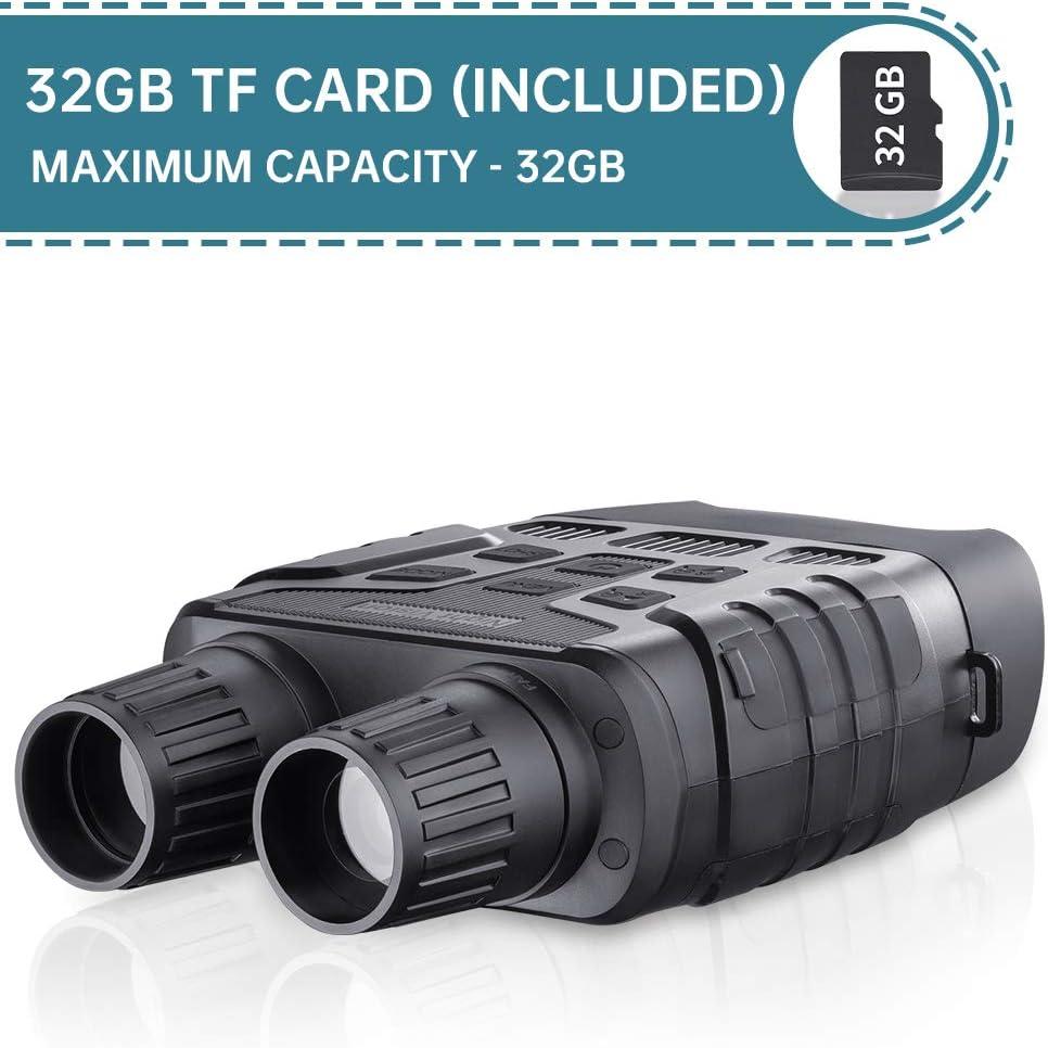 Jumelle Vision Nocturne 7x31mm 2.31 TFT LCD /Écran 32GB TF Carte Photo Cam/éra Vid/éo Enregistreur Oculaire R/églable 4X Grossissement dans lObscurit/é