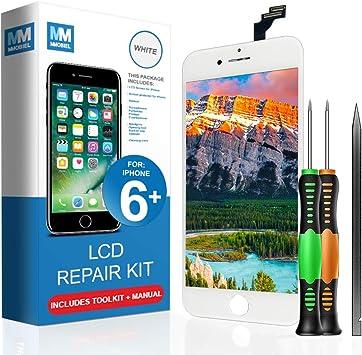 MMOBIEL Pantalla táctil LCD Compatible con iPhone 6 Plus (Negro ...