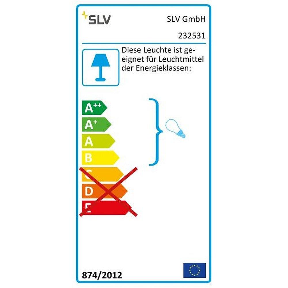 Aluminium//verre anthracite SLV Applique murale 11,5 x 11,5 x 11,5 cm GX53 230volts