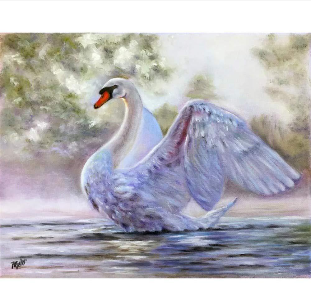 DIY Diamant Sticken Swan Bilder Von Diamant Mosaik Tier Kreuzstich Diamant Malerei 40X50CM