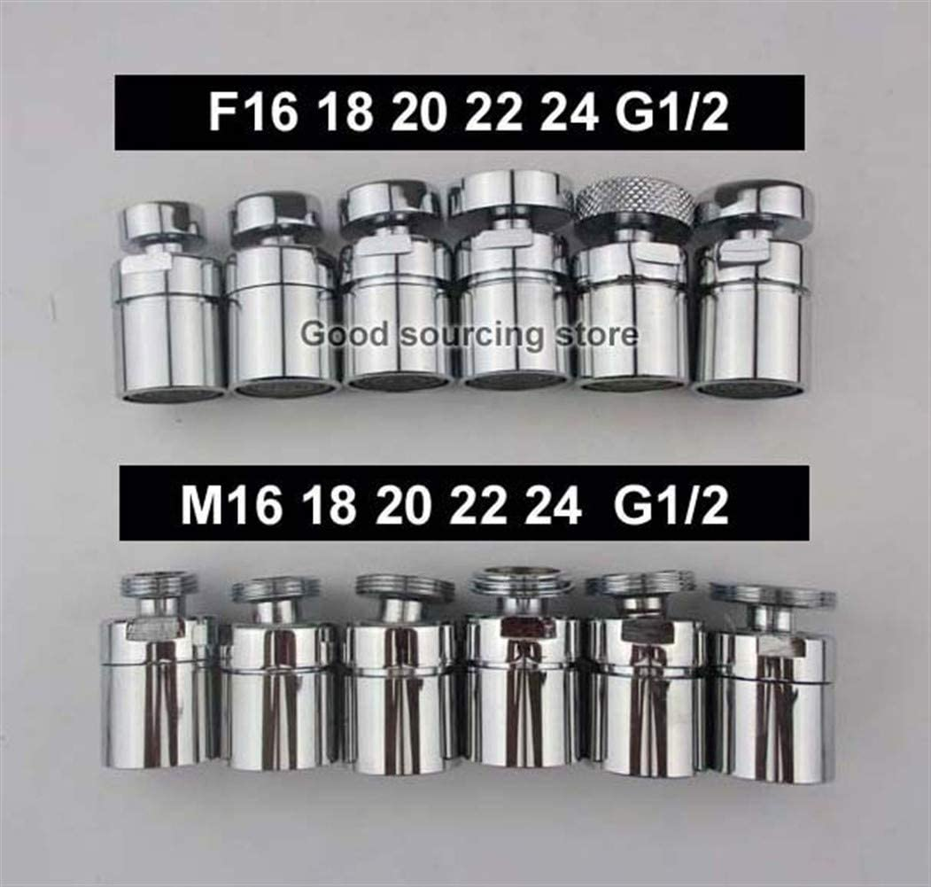 Water filter tap Brass Faucet Adapter 360 Degree Swivel Aerator Female Or Male Thread Color : 16mm male