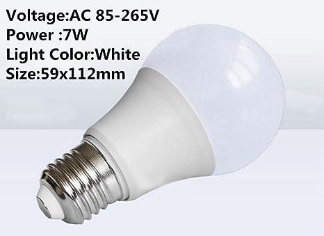 DSstyles 3 Bombillas LED de 3/5/7/9/12/15 W, 85 - 265 V, E27, Cabeza ...
