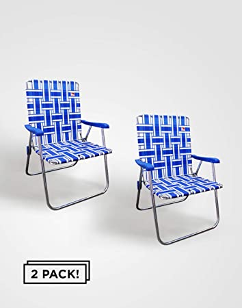 Outdoor Spectator 2-Pack Aluminum Webbed Folding Lawn//Camp Chair