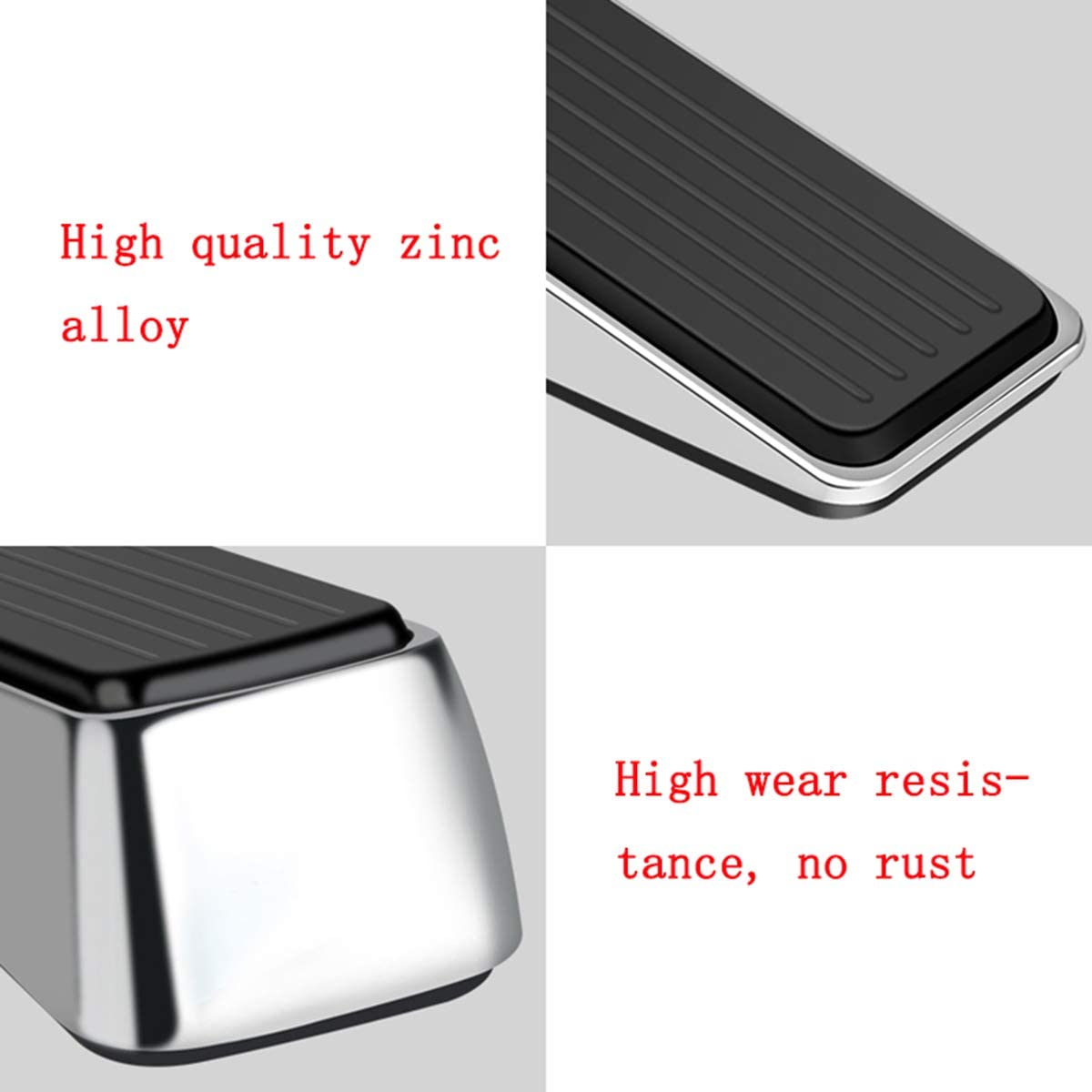 ZXWCYJ Heavy Duty Door Stop Wedge Sturdy and Durable Security Door Stop Wedge Suits Any Door,Any Floor,Brushed Color Made of Premium Quality Zinc Alloy and Rubber
