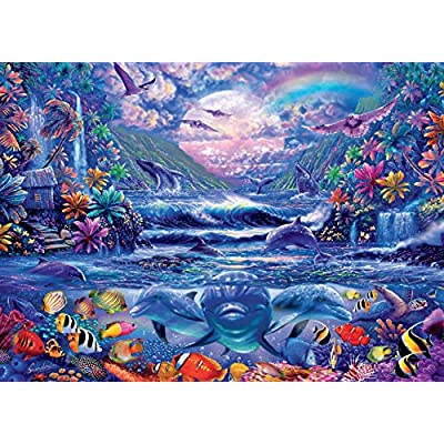 Ocean Magic Collection Moonlight Oasis Jigsaw Puzzle, 1000 Pieces: Toys & Games