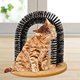 Glanzzeit Cats Self Grooming Scratch Arch Kitten Brushes Hair Cleaning Shedding Tool Catnip Toy