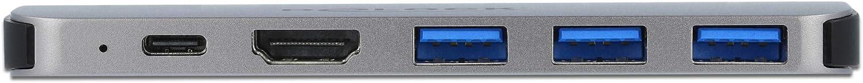 3X USB 3.0 USB-C PD 60 Watt Delock USB C HUB f/ür MacBook USB-C Adapter 2 x HDMI 4K 6-In-1 87753 Thunderbolt 3 Mini Dock