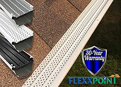"""FlexxPoint 30 Year Gutter Cover System, Residential 5"""" Gutter Guards"""