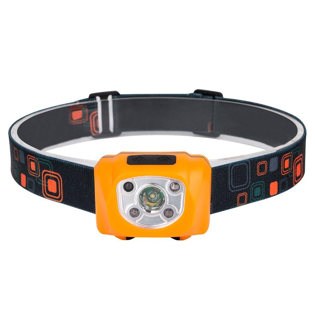 Alftek Mini COB lampe frontale avec dé tecteur de mouvement LED rechargeable é tanche Phare pour le camping pê che