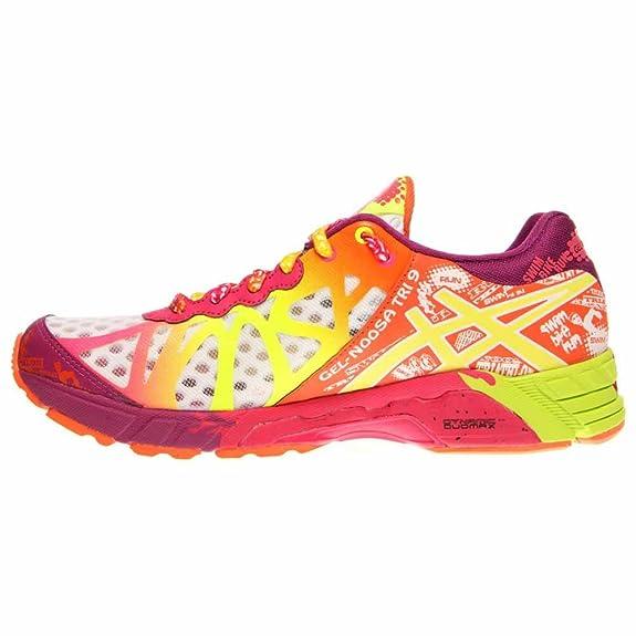 huge discount 4ce5f 5f1b7 ... ireland asics gel noosa tri9 zapatillas de running para mujer blanco  amarillo white flash yellow plum