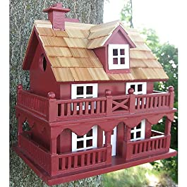 Home Bazaar Hand-made Novelty Cottage Bird House – Bird Friendly Home Decor
