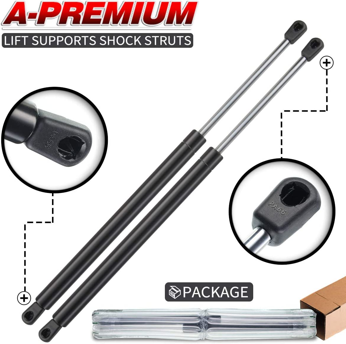 A-Premium Tailgate Hatch Lift Supports Shock Strut for Saturn Vue 2002-2007 2-PC Set