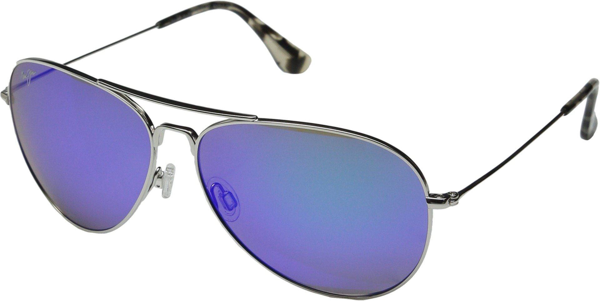 Maui Jim Mavericks Polarized Silver / Blue Hawaii Sunglasses