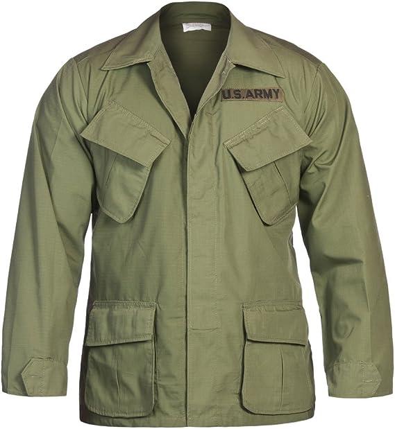 US chaqueta, Vietnam, Rip Stop, verde, 100 % algodón, verde oliva ...