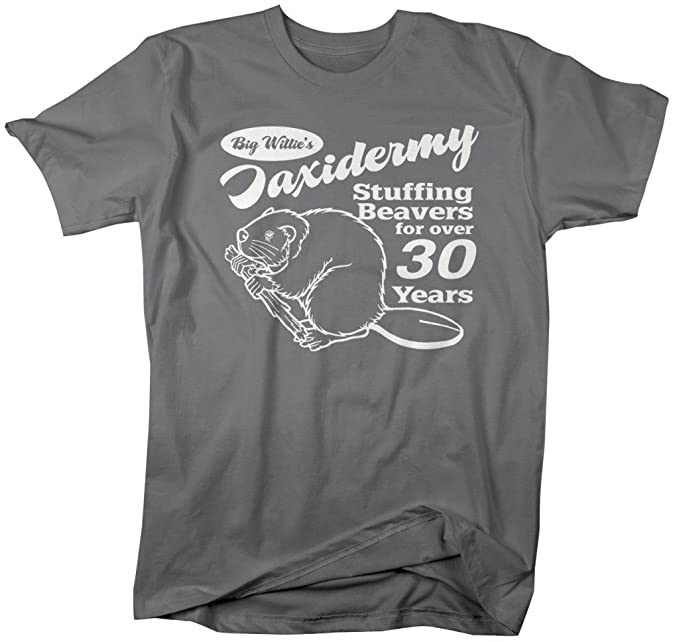 a6905437e Amazon.com: Shirts By Sarah Men's Funny Taxidermy T-Shirt Offensive  Stuffing Beavers Shirts (Charcoal Small): Clothing