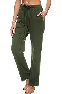 63af02d30cea Roselux Women's Stretch Comfy High Waisted Drawstring Lounge Loose Wide Leg  Yoga Pants