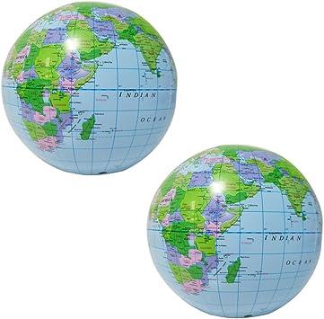 YeahiBaby Globo inflable | Globo de la tierra Mapa 2 Piezas ...