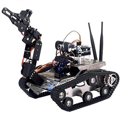 Longruner WIFI Robot Car Kit for Arduino, HD camera wireless wifi