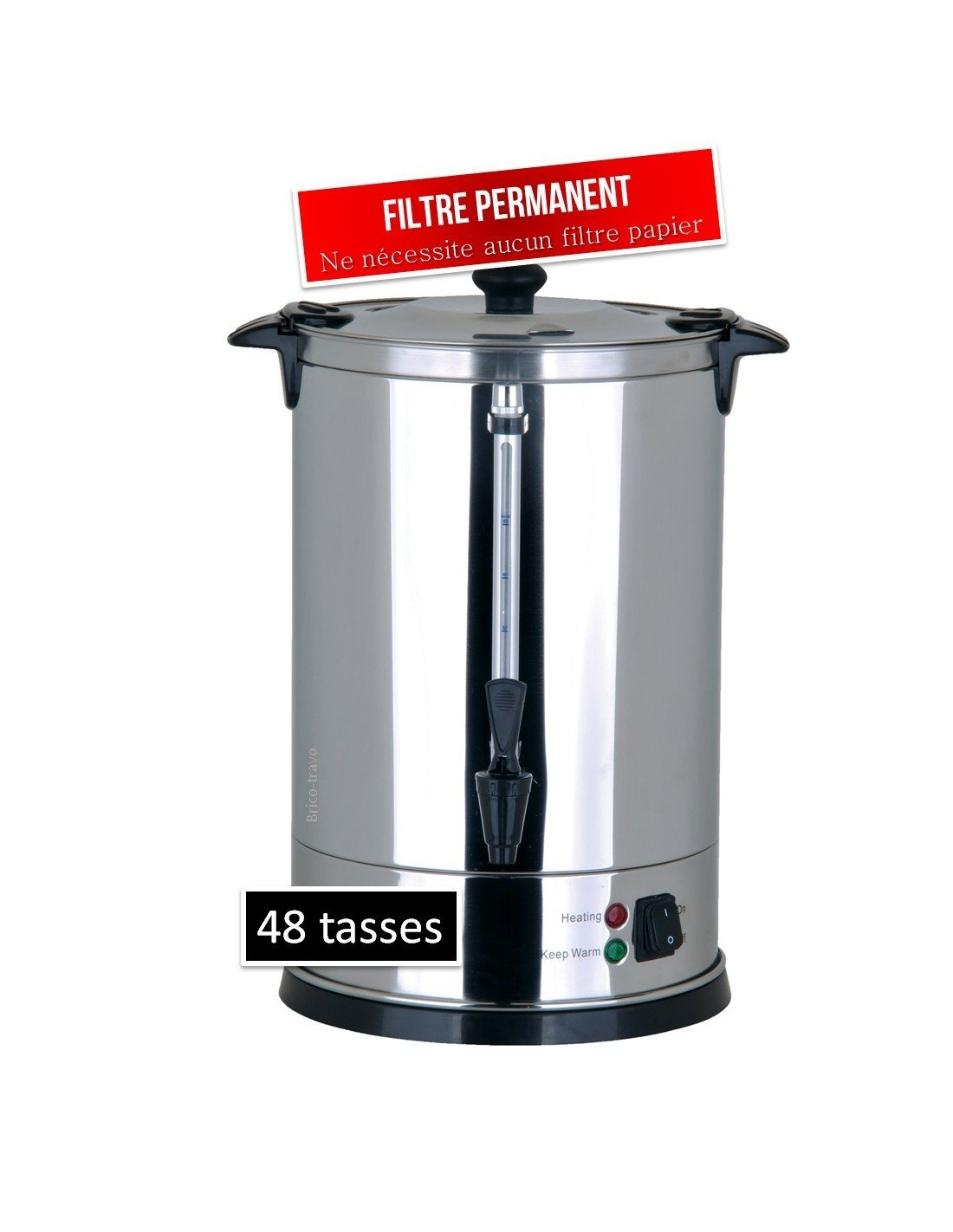 Casselin CPC48 cafetera eléctrica - calentadores de agua (Negro, Acero inoxidable, Acero inoxidable): Amazon.es: Hogar