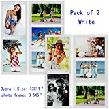 collage refrigerator - Godery Magnetic Photo Frames For Refrigerator, 3.5X5 inch 5 Display Refrigerator Photo Collage Magnets, 2-Pack, White