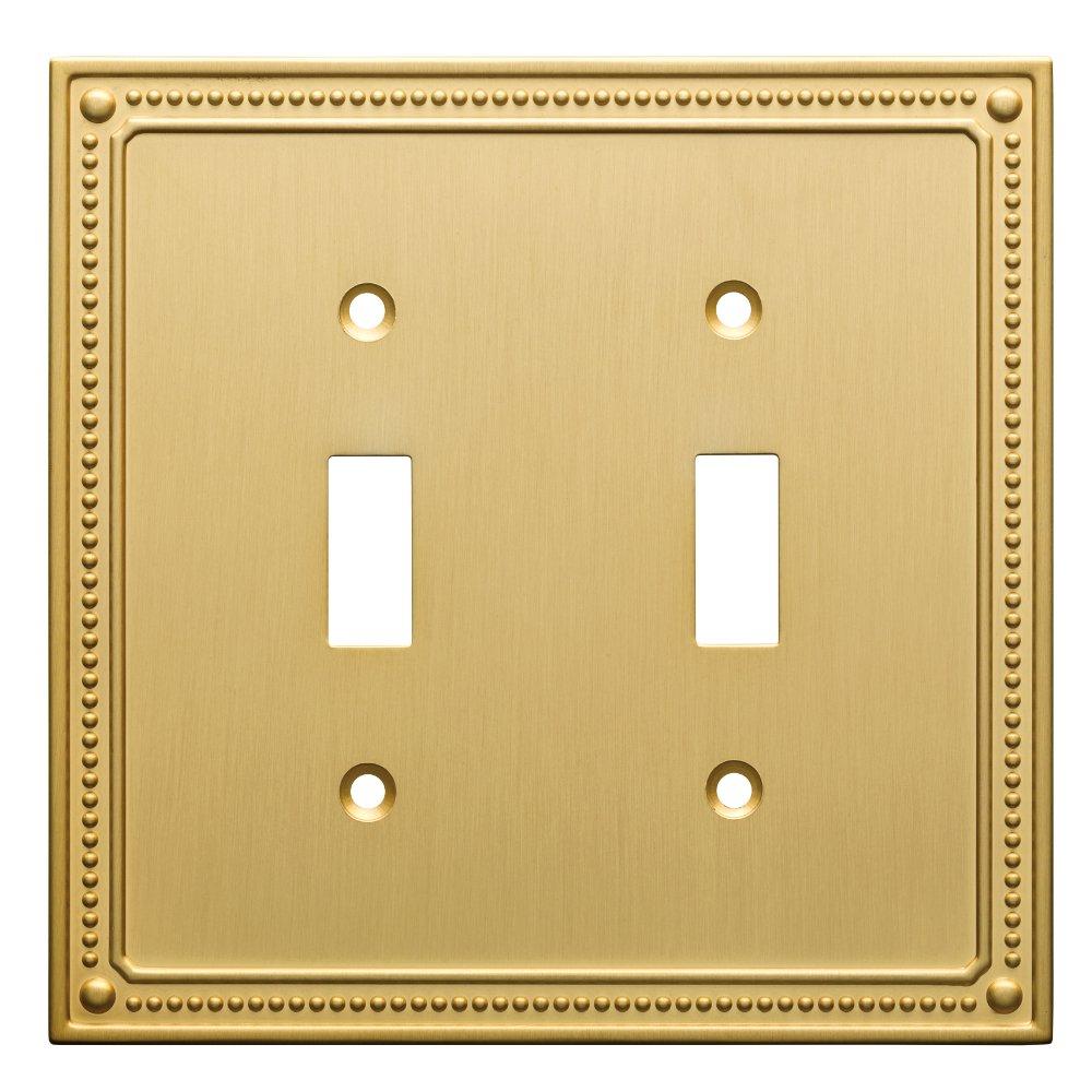 Franklin Brass W35061-BB-C Classic Beaded Double Switch Wall Plate ...