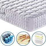 Vesgantti 9.4 Inch Multilayer Hybrid Twin Mattress - Multiple Sizes & Styles Available, Ergonomic Design with Memory Foam and Pocket Spring/Medium Plush Feel