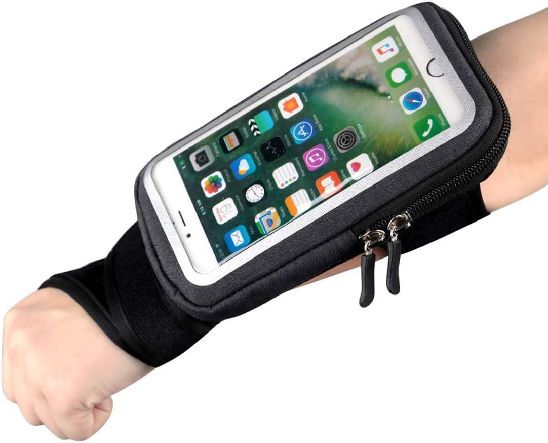 Muñequera Brazalete Movil para iPhoneX/8 Plus/7Plus Banda de Antebrazo con Pantalla Táctil,Pulsera, Brazalete, Cinturones de hidratación, Armband para Correr con espacio para Dinero, Llaves y Tarjetas: Amazon.es: Electrónica