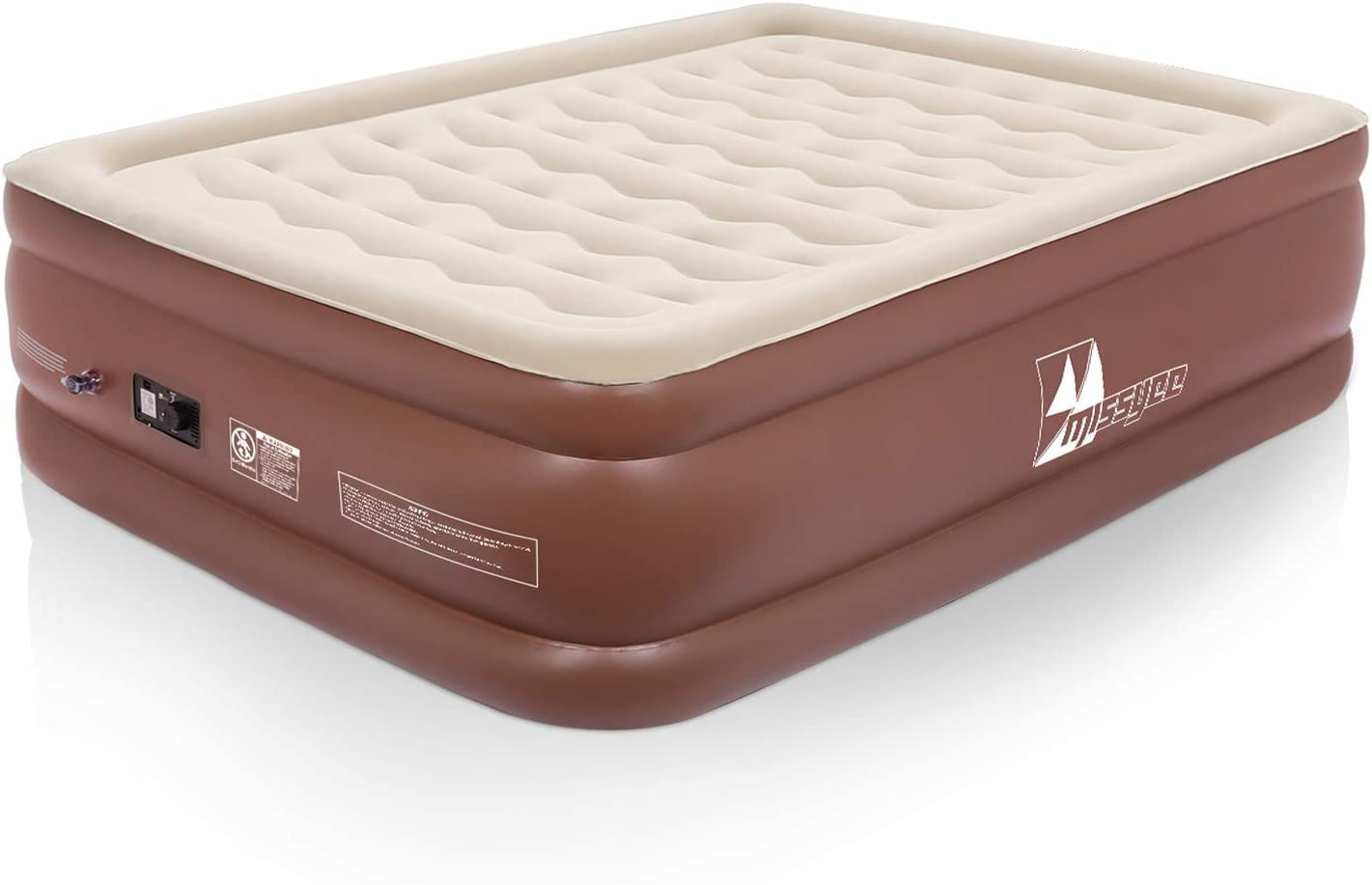 365 Night Home Trial 22 inches Height Inflatable Mattress Beds Queen with Strong Support Durable ERGOCOIL Chamber Air Mattress with Built-in Pump Queen Size 150W Easy to Inflate Storage Bag