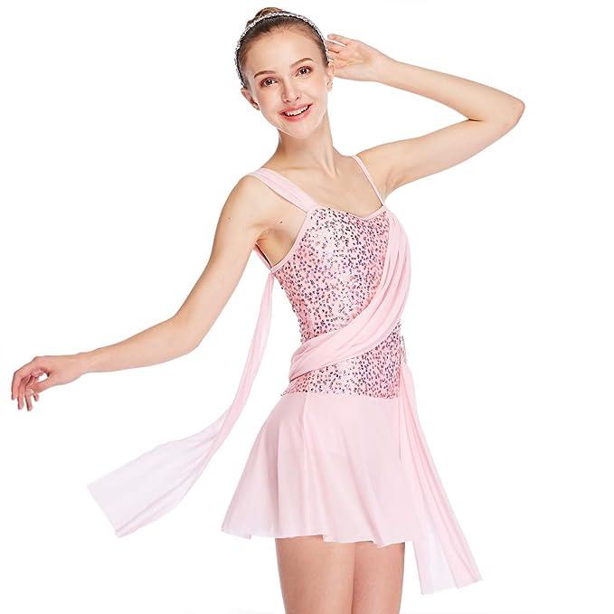 0e536caa17ee6 MiDee Sequins Lyrical Dress Dance Wear Salsa Dance Dresses Ballroom Dress  Dance Costumes (MA,