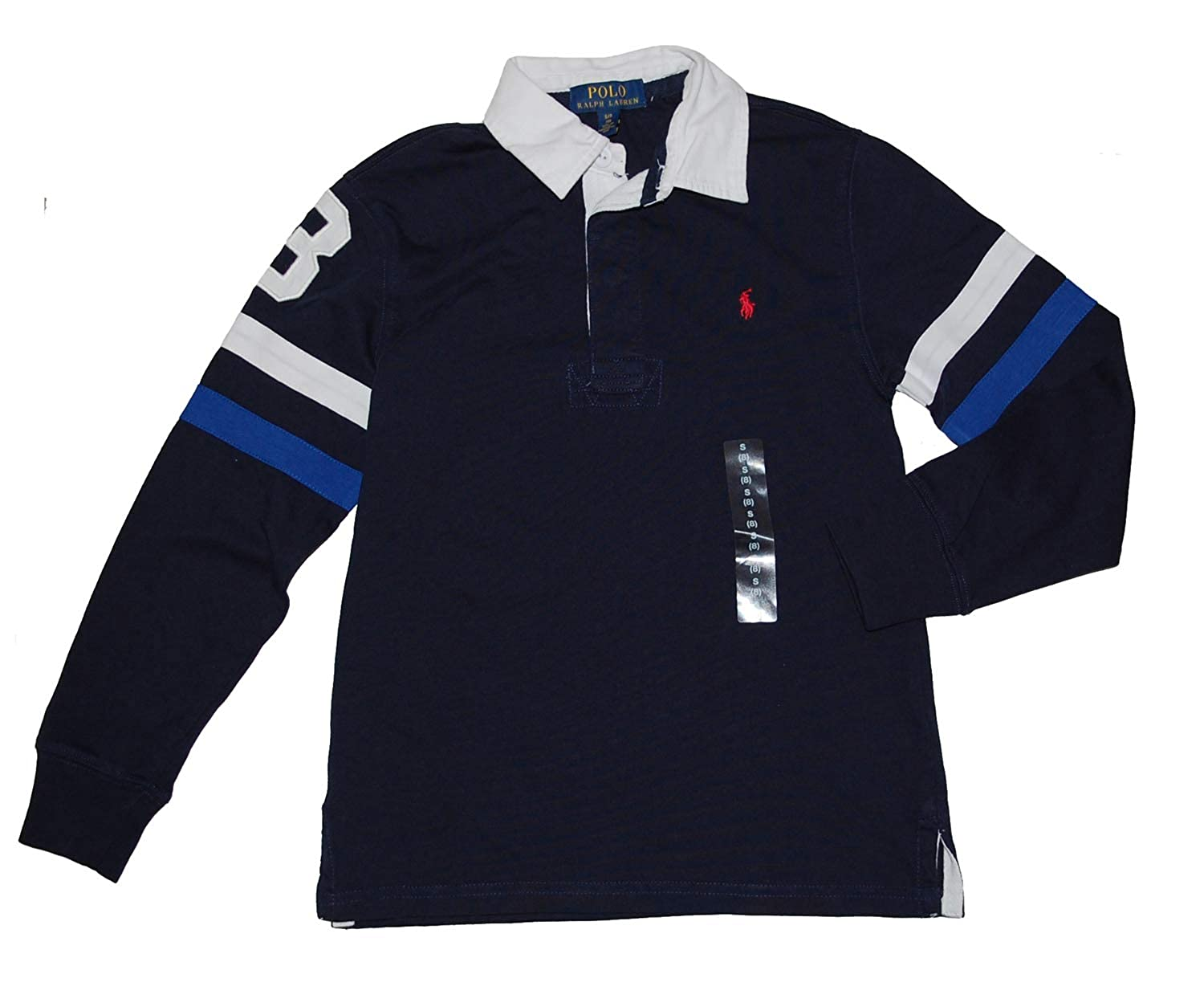 Ralph Lauren Polo Boys Long Sleeve Striped Arms Rugby Shirt