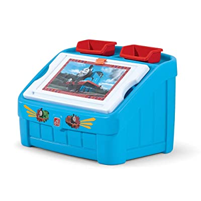 Step2 2-in-1 Toy Box & Art Lid | Plastic Toy & Art Storage Container, Thomas the Tank Engine: Toys & Games