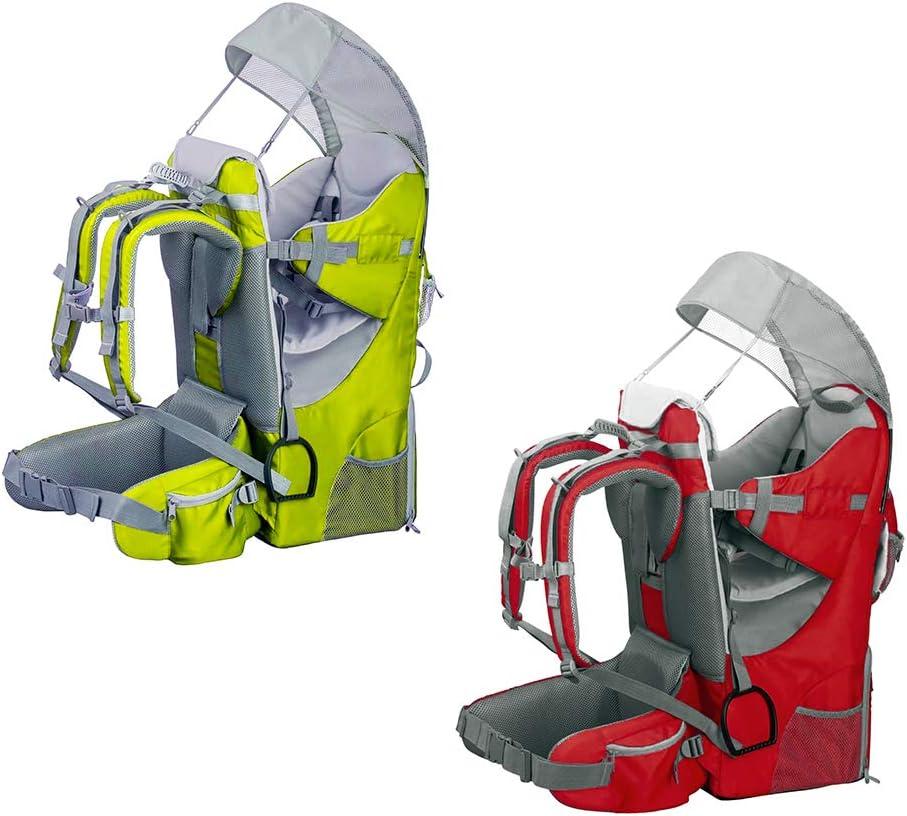Sac /à dos porte-b/éb/é ergonomique rembourr/é protection solaire ceinture trekking montagne ville Noir