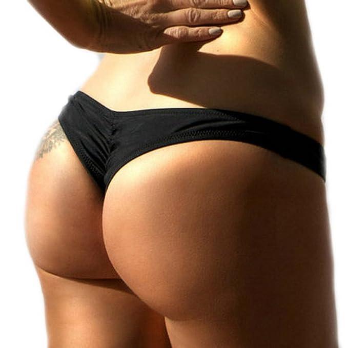 ELE GENS Damen Bikinihose Bikinislip Badeslip Badepants Slip Bikini (L:  EU36-38,
