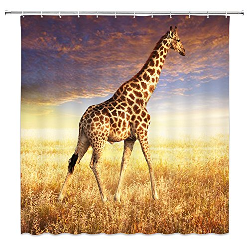 Giraffe Shower Curtain Nature