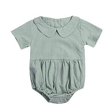 MAYOGO Mameluco para bebé Niña Mono Bebe Manga Corta Collar ...