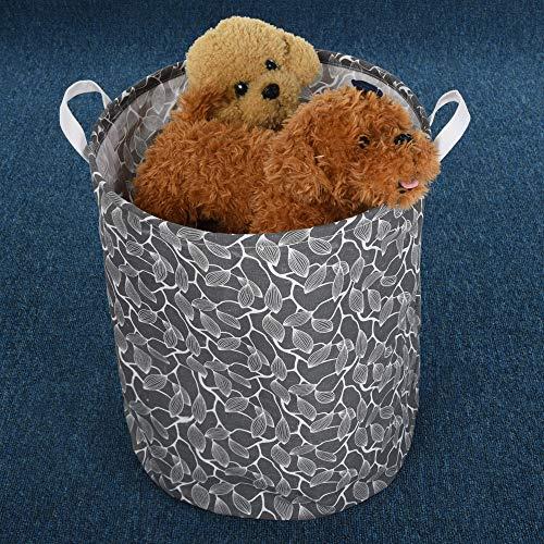 Leslily Hamper, Waterproof Canvas Laundry Hamper Clothes Basket Storage Basket Folding Bag Hamper Bag by Leslily (Image #4)
