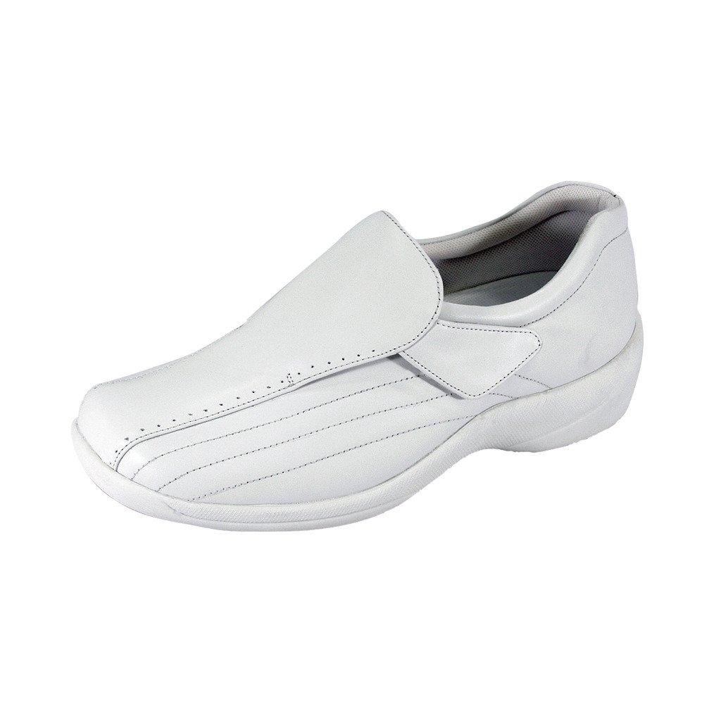 24 Hour Comfort  Odele (1018) Women Wide Width Comfort Slip-On Shoes White 6